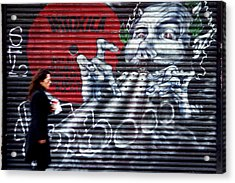 Piper At The Gates Of Portobello Acrylic Print by Jez C Self