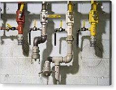Pipes And Valves Acrylic Print by Alexey Stiop