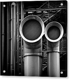 Pipes Acrylic Print by Dave Bowman