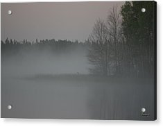Piprell Lake 4 Am Mist Acrylic Print by Andrea Lawrence