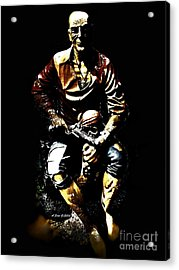 Acrylic Print featuring the photograph Pirate And Skull by Annie Zeno