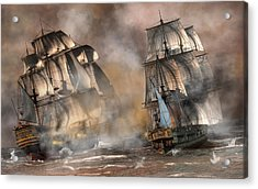 Pirate Battle Acrylic Print