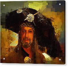 Pirate Acrylic Print by Clarence Alford