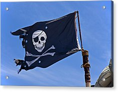 Pirate Flag Skull And Cross Bones Acrylic Print