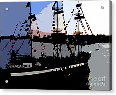 Pirate Ship Acrylic Print by David Lee Thompson