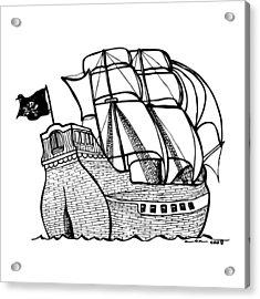 Pirate Ship Acrylic Print by Karl Addison