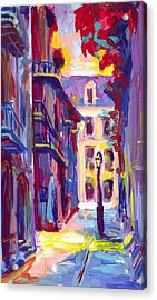 Pirates Alley New Orleans Acrylic Print by Saundra Bolen Samuel