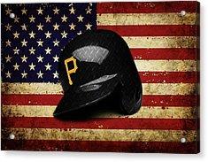 Pirates Batting Helmet Acrylic Print