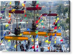 Pirate's In The Rigging Acrylic Print by David Lee Thompson
