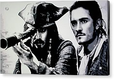Pirates Of The Carribean Acrylic Print by Luis Ludzska