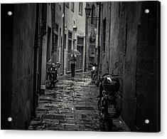 Pisa Back Alley Acrylic Print by Chris Fletcher