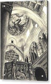 Pisa Duomo Acrylic Print by Norman Bean