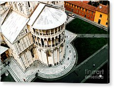 Pisa From Above Acrylic Print by Linda  Parker