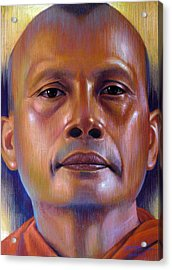 Acrylic Print featuring the painting Pisal Dhama Phatee by Chonkhet Phanwichien