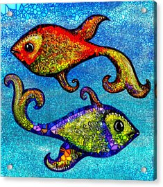 Pisces Acrylic Print by Agata Lindquist
