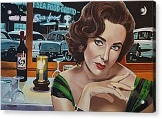 Pisces - Elizabeth Taylor Acrylic Print by Jo King