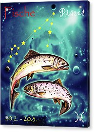 Pisces In The Sky Acrylic Print
