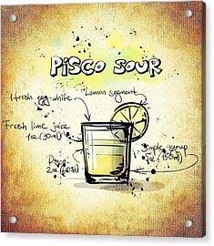 Pisco Sour Acrylic Print