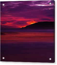 Acrylic Print featuring the photograph Pismo Beach On Fire - California - Usa by Gregory Ballos