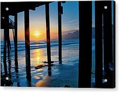 Pismo Beach Pier Sunset Acrylic Print