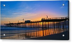 Pismo Beach And Pier Sunset Acrylic Print