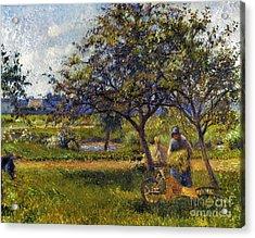 Pissarro: Wheelbarr., 1881 Acrylic Print by Granger