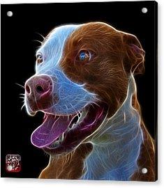Pit Bull Fractal Pop Art - 7773 - F - Bb Acrylic Print