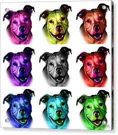 Pitbull Terrier - F - S - Wb - Mosaic Acrylic Print