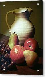 Pitcher With Fruit Acrylic Print by Diana Angstadt