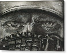 Pitchers Eyes Acrylic Print by Tom Forgione