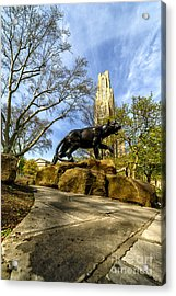 Pitt Panther Cathedral Of Learning Acrylic Print