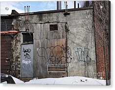 Pitt Street Wall Acrylic Print by Reb Frost