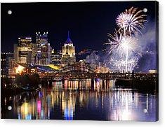 Pittsburgh 1  Acrylic Print by Emmanuel Panagiotakis