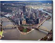 Pittsburgh 8 In Color  Acrylic Print