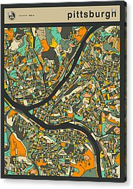 Pittsburgh City Map Acrylic Print