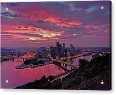 Pittsburgh Dawn Acrylic Print by Jennifer Grover