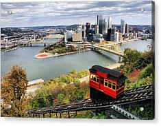 Pittsburgh From Incline Acrylic Print by Michelle Joseph-Long