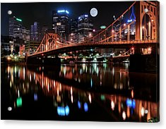Pittsburgh Full Moon Acrylic Print