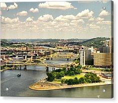 Pittsburgh Hdr Acrylic Print by Arthur Herold Jr
