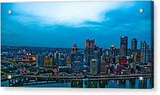 Pittsburgh In Hdr Acrylic Print by Kayla Kyle