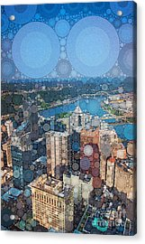 Pittsburgh In Pixels Acrylic Print