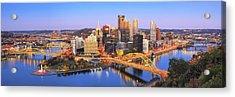 Pittsburgh Pano 22 Acrylic Print by Emmanuel Panagiotakis