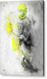 Acrylic Print featuring the photograph Pittsburgh Penguins Nhl Sidney Crosby Painting Fantasy by David Haskett