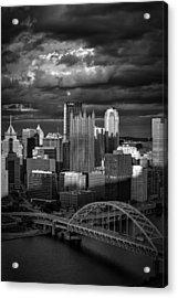 Pittsburgh Pennsylvania Skyline Acrylic Print by David Haskett