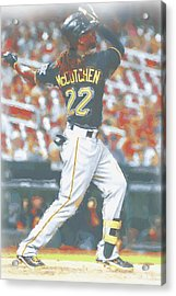 Pittsburgh Pirates Andrew Mccutchen 5 Acrylic Print by Joe Hamilton