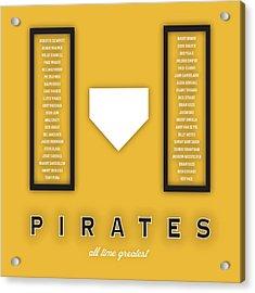 Pittsburgh Pirates Art - Mlb Baseball Wall Print Acrylic Print by Damon Gray