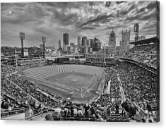 Pittsburgh Pirates Pnc Park Bw X1 Acrylic Print by David Haskett