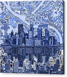 Pittsburgh Skyline Abstract 4 Acrylic Print