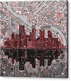 Pittsburgh Skyline Abstract 5 Acrylic Print