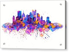 Pittsburgh Skyline Acrylic Print by Marian Voicu